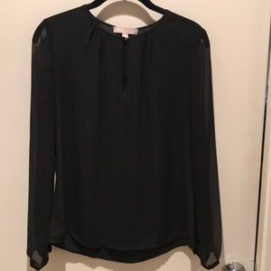 Banana Republic pin-tuck blouse